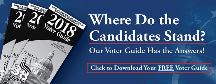 Where To the Candidates Stand? Our Voter Guide Has the Answers! Click to Download Your FREE Voter Guide